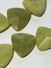 Load image into Gallery viewer, Olive Green Lace Agate Rounded Triangle Faceted Semi-Precious Stone, 17 mm - 25 Beads