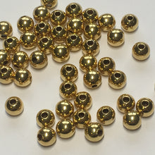 Load image into Gallery viewer, Gold Round Beads, 6 mm - 45 Beads