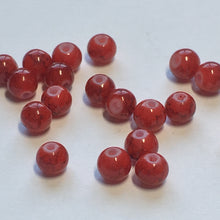 Load image into Gallery viewer, Red Painted Glass Round Beads, 4 mm, 20 Beads