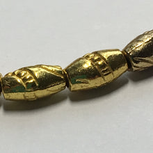 Load image into Gallery viewer, Gold Patterned Barrel Beads, 8 x 5 mm - 25 Beads