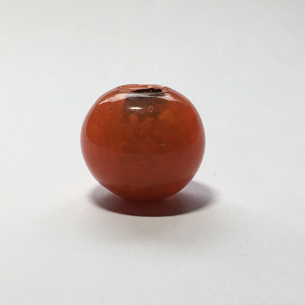 Bohemiam Look Rough Semi-Transparent Orange LampWork Glass Bead Pendant/Focal Bead 20 mm Round