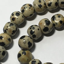 Load image into Gallery viewer, Dalmation Jasper Semi-Precious Stone Round Beads, 8 mm -  57 Beads