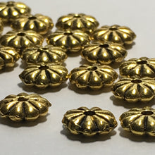 Load image into Gallery viewer, Antique Gold Flower Metal Spacer Beads 7 mm  - 18 Beads