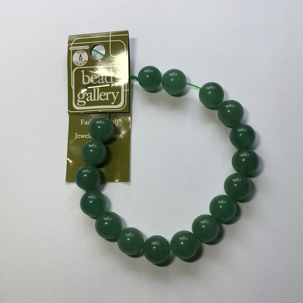 Bead Gallery Light Aventurine Semi-Precious Stone Round Beads, 12 mm -  17 Beads