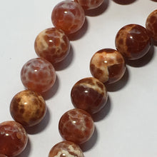 Load image into Gallery viewer, Fire Agate Semi-Precious Stone Round Beads, , 8 mm - 15.5-Inch Strand, 49 Beads