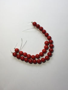 Blue Moon Natural Elegance Red Stone Round Beads, 10 mm - 19 Beads