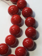 Load image into Gallery viewer, Blue Moon Natural Elegance Red Stone Round Beads, 10 mm - 19 Beads
