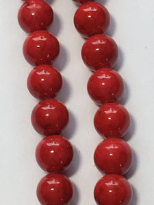 Blue Moon Natural Elegance Dark Red Stone Round Beads, 6 mm - 61 Beads