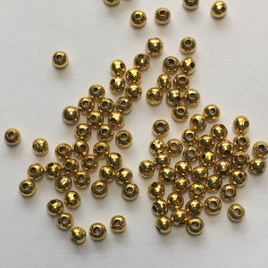 14K Gold Filled 2 mm Smooth Round Spacer Beads, 98 Beads
