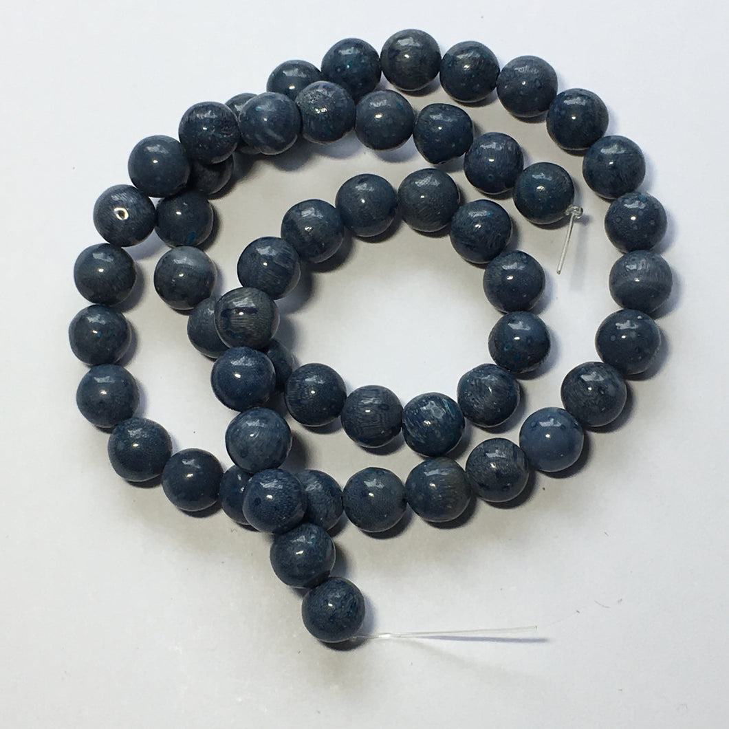 Dumortierite Blue Round Semi-Precious Stone  Beads 7 mm, 16-Inch Strand, 54 Beads