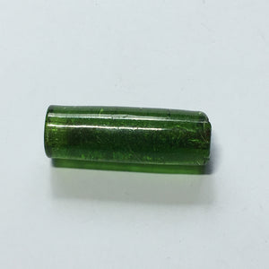 Bohemiam Look Rough Dark Transparent Green Tubular LampWork Glass Bead Pendant/Focal Bead 30 mm x 10 mm