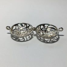 Load image into Gallery viewer, Antique Silver Finish Bead Cage Pendant/Charm, 30 mm Long