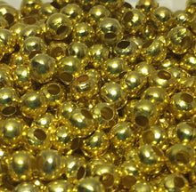 Load image into Gallery viewer, Gold Plated Round Spacer Beads,  1.75 x 2.4 mm - 100 Beads