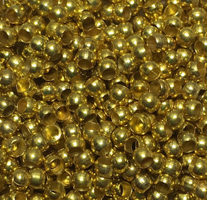 Gold Plated Round Spacer Beads,  1.75 x 2.4 mm - 100 Beads
