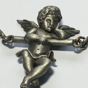 Pewter Finish Swinging Angel 3-Bar Focal Piece, 35 x 90 mm