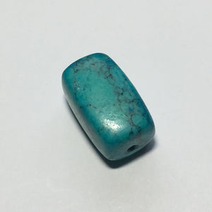 Turquoise Color Rectangular Focal Bead, 20 x 13 mm