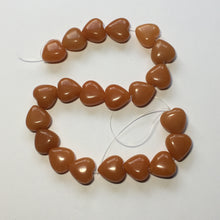 Load image into Gallery viewer, Orange Aventurine Semi-Precious Stone Hearts, 14 x 14 mm - 21 Beads
