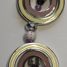 Load image into Gallery viewer, Jesse James Beads 7-Inch Purple and Cream Themed Resin and Plastic Beads and Rings Faceted Faux Crystal, Various Sizes - 16 Beads