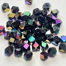 Load image into Gallery viewer, Black AB Cornerless Cube Beads, 4 mm, 50 Beads