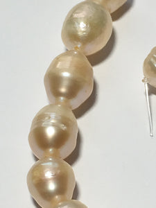 Cream Baroque Pearls 10 mm 7-Inch Strand