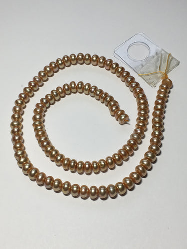Champagne Button Freshwater Pearls 6 mm, 16-Inch Strand Approx 119 Pearls