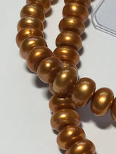 Load image into Gallery viewer, Gold Button Freshwater Pearls 6 mm, 16-Inch Strand 119 Pearls