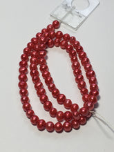 Load image into Gallery viewer, Dark Pink Baroque Pearls 5 mm 15-Inch Strand