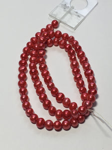 Dark Pink Baroque Pearls 5 mm 15-Inch Strand