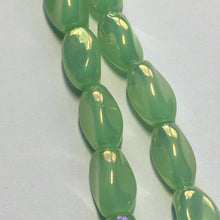 Load image into Gallery viewer, Bead Gallery Rainbow Olivene Glass Twist Beads, 6 x 10 mm - 32 Beads