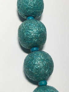 Blue Moon Natural Elegance Red or Blue Wood Particle Round Beads,18 mm - 10 Beads