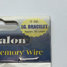 Load image into Gallery viewer, Beadalon Gold Plated Memory Wire 1/2 oz. Large Bracelet Approx. 30 Loops