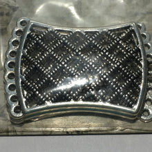 Load image into Gallery viewer, Blue Moon Manor House Antique Silver Rectangle Grill with Loops Pendants (3),  47 x 33 x 1.4 mm