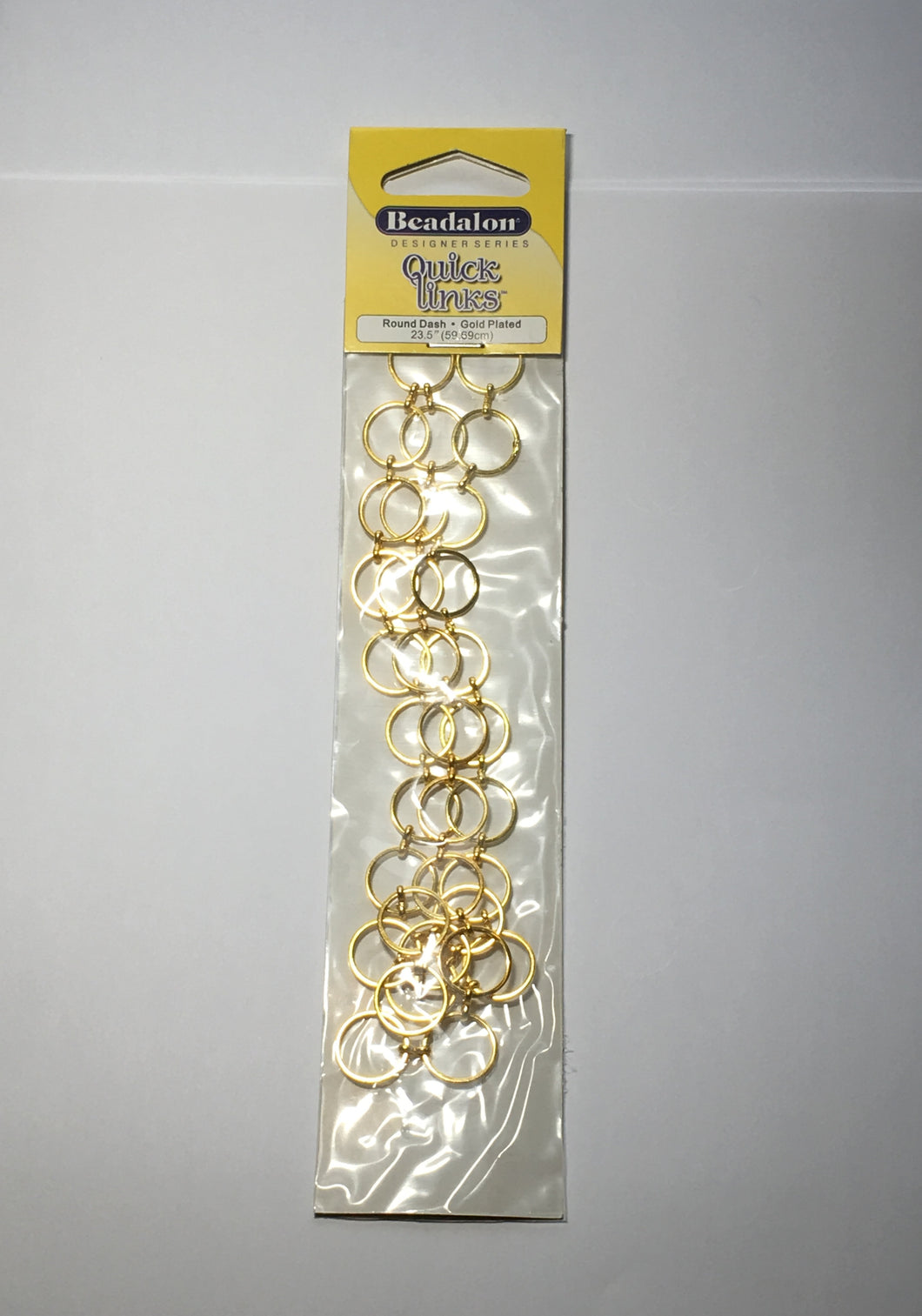 Beadalon Designer Series Quick Links Round Dash Gold Plated -  23.5 Inches