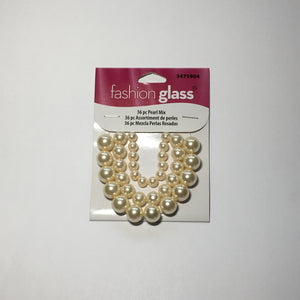 Cream Pearl Mix by Fashion Glass 6, 8 and 10 mm 36-piece