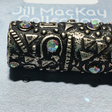 Load image into Gallery viewer, Sterling Plated and Crystal Slide Pendant 36.5 mm Jill MacKay Collection