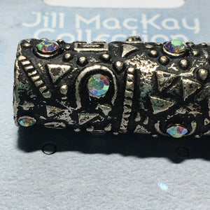 Sterling Plated and Crystal Slide Pendant 36.5 mm Jill MacKay Collection