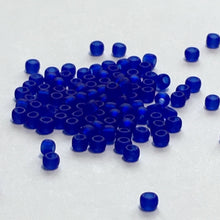 Load image into Gallery viewer, TOHO TR-11-8F  11/0 Transparent Matte Cobalt Blue Seed Beads, 5 gm