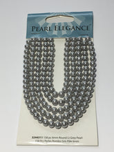 Load image into Gallery viewer, Pearl Elegance Light Grey Round Glass Pearls, 6 mm  - 158 Beads