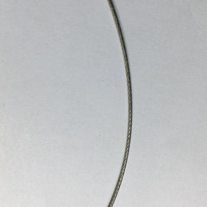 Gray Nylon-Coated Twisted Wire Choker with Screw Closure, 16-Inch