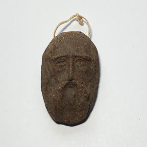 Old Man Sculptured Thumbprint Pendant, 35 x 20 x 5 mm