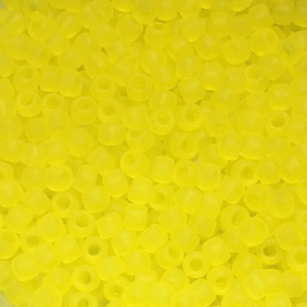 TOHO TR-11-12F - 11/0 Transparent Frosted Lemon Seed Beads, 5 gm