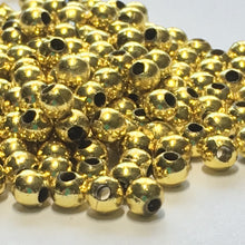 Load image into Gallery viewer, Gold Acrylic Round Beads, 4 mm - Approximately 200 Beads