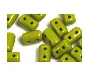 Matubo Rulla 3 x 5 mm RUL-35-53420  Opaque Olive Beads, 5 gm