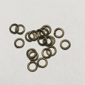 4 mm 21-Gauge Antique Bronze Unsoldered .71 mm Split Iron Jump Rings, 20 Rings