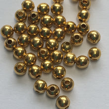 Load image into Gallery viewer, Gold Plated Round Spacer Beads, 2.4 mm - 50 Beads