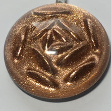 Load image into Gallery viewer, Dichroic Copper Clear Domed Rose Pendant, 40 x 33 x 12 mm