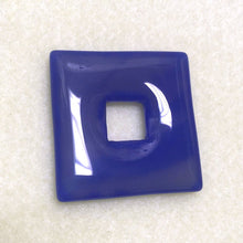 Load image into Gallery viewer, Blue Agate Semi-Precious Stone Square 40 mm with 12 mm Square Hole 6 mm Thick - 1 piece