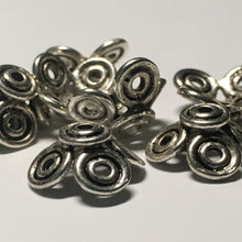 Load image into Gallery viewer, Antique Silver Square Bead Caps, 15 mm  - Quantity 10