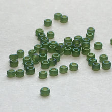 Load image into Gallery viewer, Miyuki M-15-158FR  15/0 Matte Transparent Olive AB Seed Beads, 5 gm