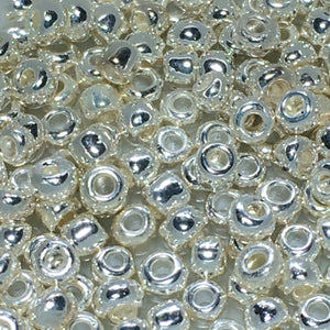 8/0 Silver Plated Seed Beads 5 gm